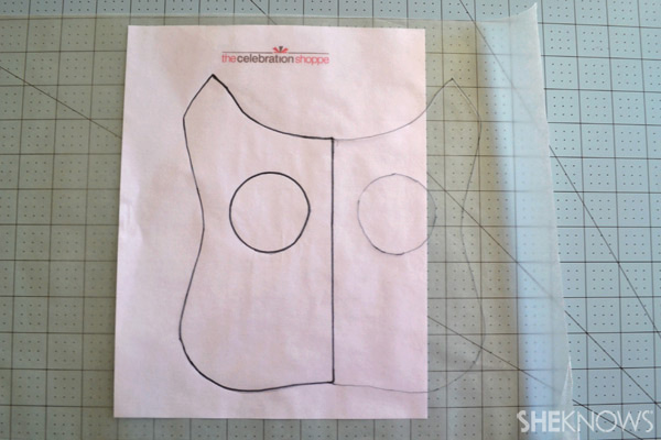 DIY Owl pillow: trace template