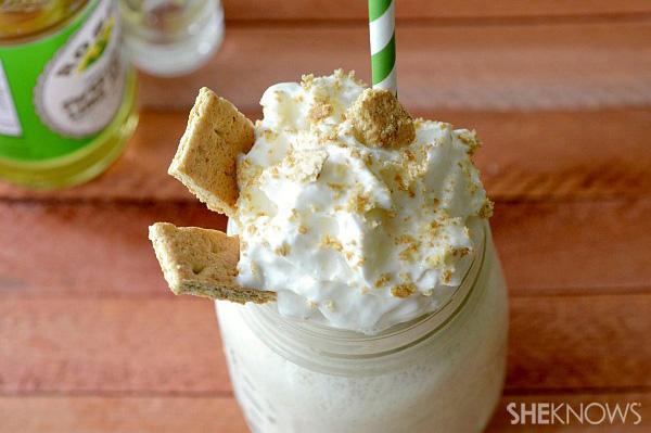 Boozy pumpkin milkshake
