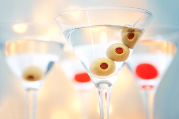 Santa's hot and dirty martini