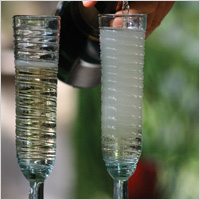 swirl champagne flutes