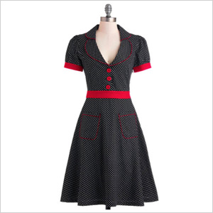 Dress with shoulder pads from ModCloth