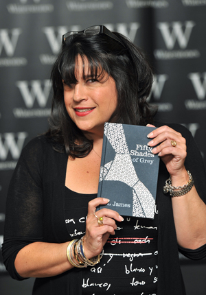 E.L. James with Fifty Shades of Grey