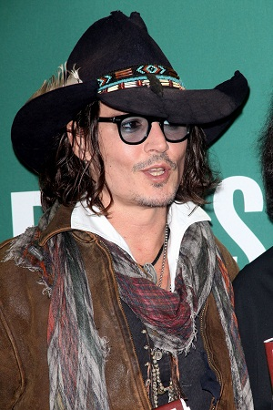 Johnny Depp in a cowboy hat