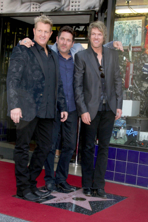 Rascal Flatts at the Hollywood Walk of Fame