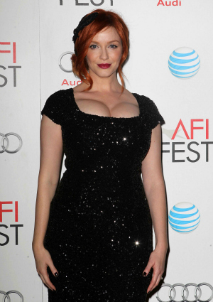 Actress Christina Hendricks of Mad Men