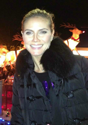 Heidi Klum at a tree lighting in New York