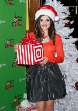Lucy Hale at ABC Family's 25 Days of Christmas