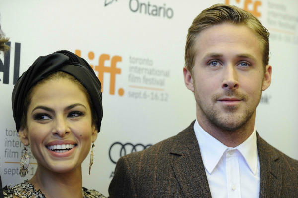 Eva Mendes and Ryan Gosling in Toronto