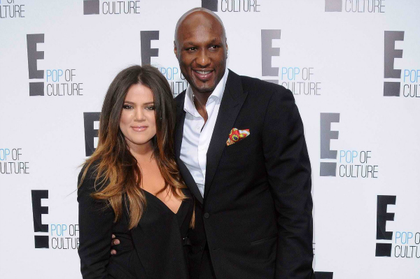 Khloe Kardashian and Lamar Odom in Beverly Hills