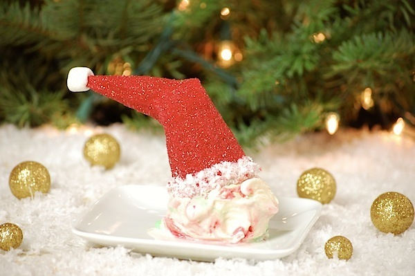 ice cream cone santa hats