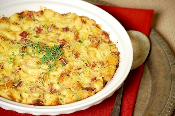 ham and cheese bread pudding