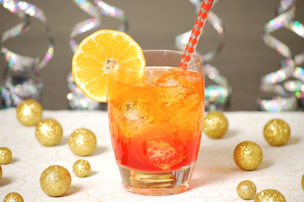 Sparkling orange sunrise cocktail