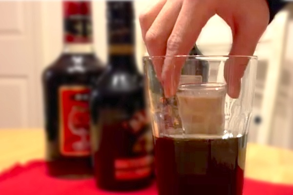 stout beer with shot
