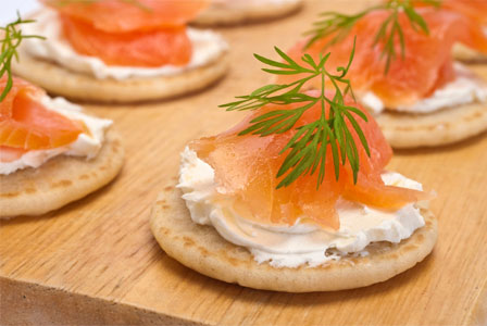 A blini recipe for cocktail catering