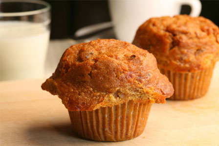 Carrot and millet muffin