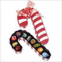 Norman Love Confections Candy Cane Chocolate Gift Box