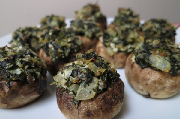 Skinny Spinach And Bacon Stuffed Mushrooms Recipes — Dishmaps