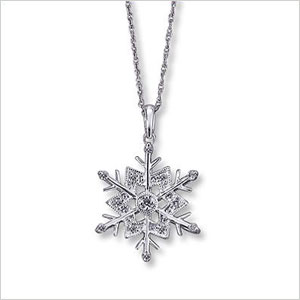 Kay snowflake necklace