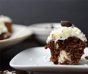 Almond joy mini cupcakes