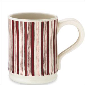 Hand painted stripe mug