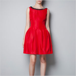 Zara red statement dress
