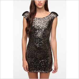 urban outfitter glitter glam dress