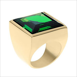 square cut cocktail ring