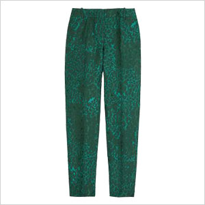 green capri pants