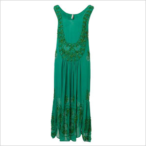green flapper dress