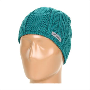 green wool hat