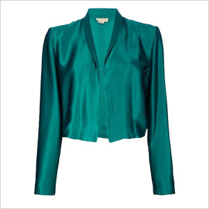 green open front jacket