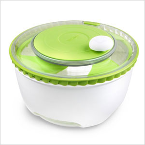Turbo fan salad spinner