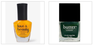 nailpolish Mustard and British Racing Green