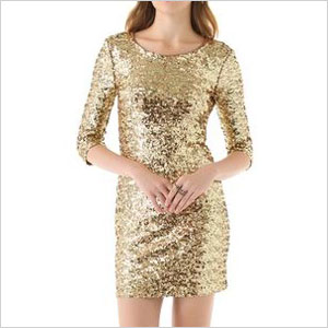 BB dakota gold sequin dress