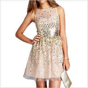 Delias sequin mesh dress