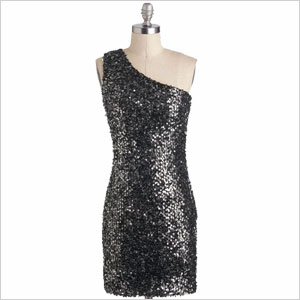 Modcloth black sequined dress
