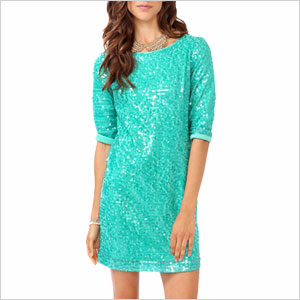 Aquamarine sequin dress