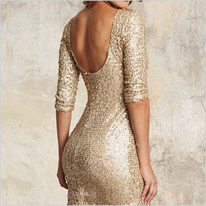 Alloy gold sequin dress