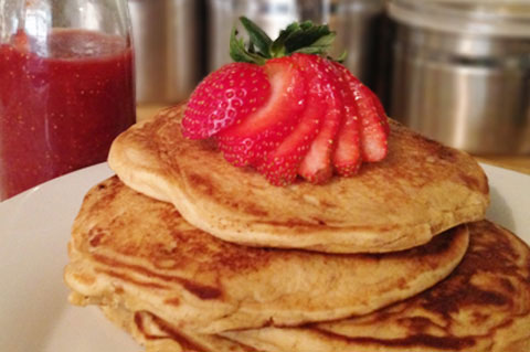 strawberry peanut butter pancakes recipe