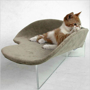 retro styled pet bed