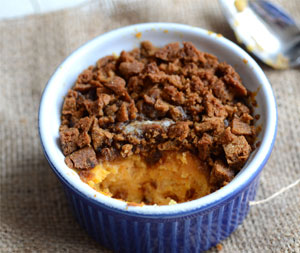 Gingersnap sweet potato casserole