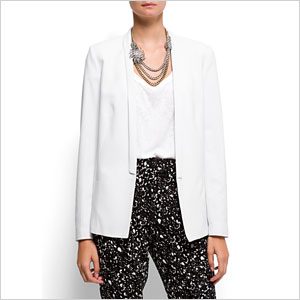 Mango white smoking blazer