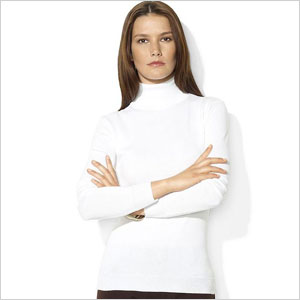 Ralph Lauren white turtleneck sweater