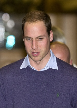 Prince William leaving the hospital