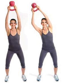 Full-body fitness with kettlebells
