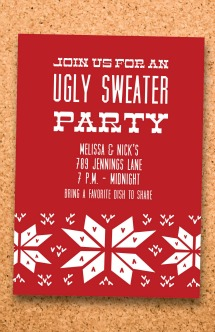 viavaciousdesigns ugly sweater party card design