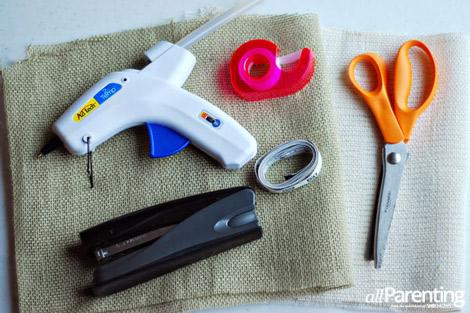 Burlap bows materials