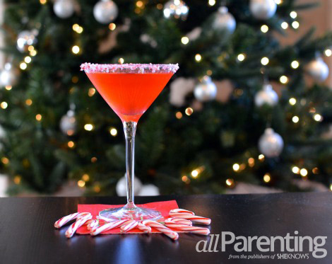 candy cane vodka martini