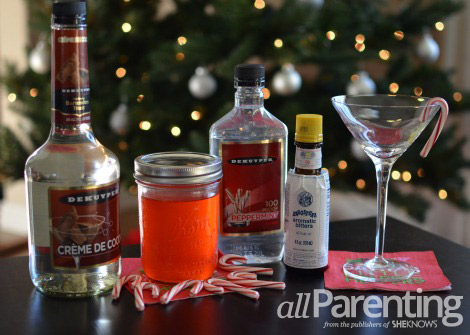 candy cane vodka martini ingredients