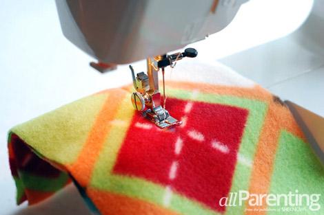 fleece scarf step 5